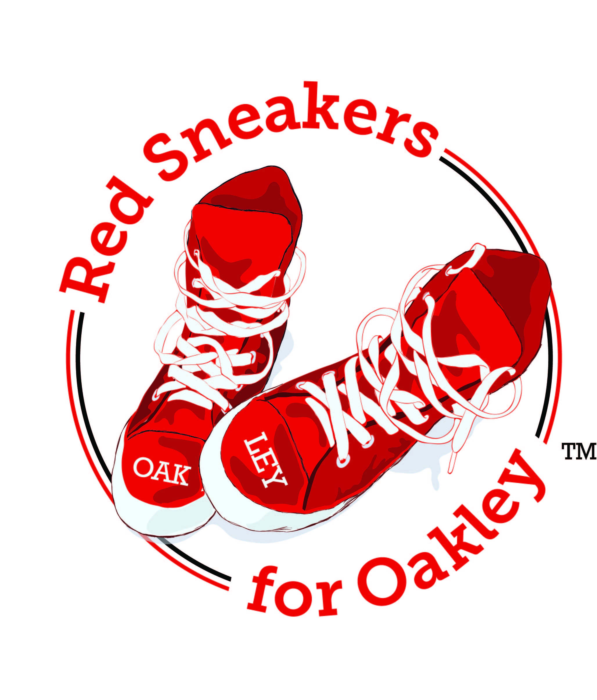 Red Sneakers for Oakley Road Race Photo