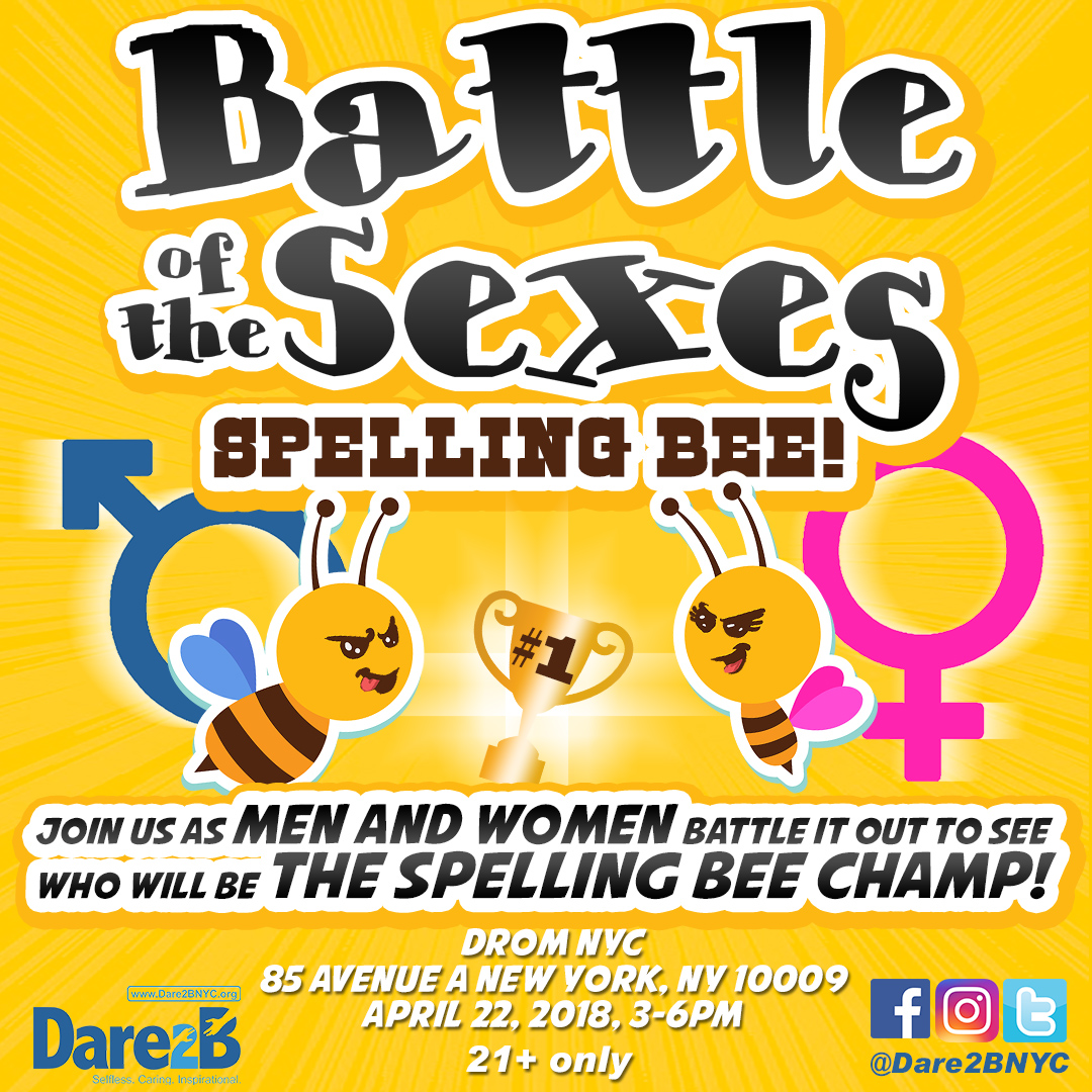 Dare2B Spelling Bee Competition: Battle of the Sexes Photo