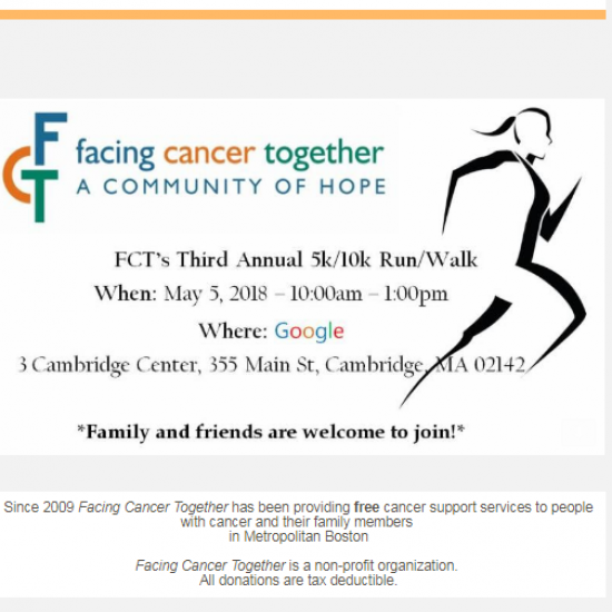 Facing Cancer Together 3rd Annual 10k/5k Run/Walk Hosted by Google Photo