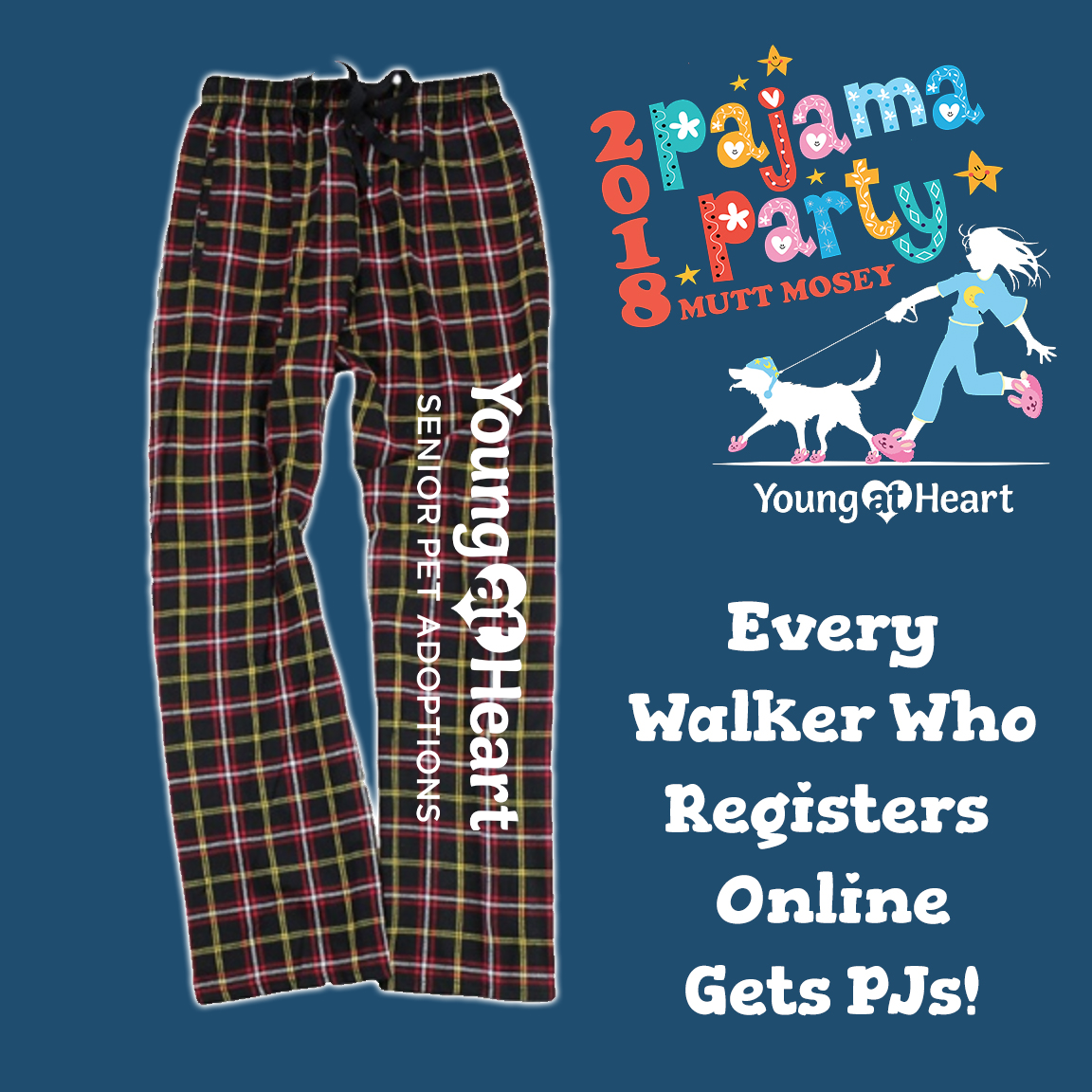 Young at Heart's Mutt Mosey Fundraiser Walk - Pajama Party! Photo