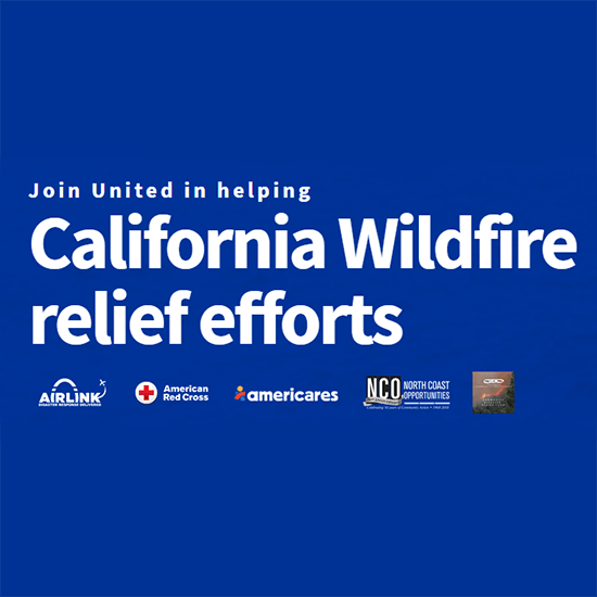 United Airlines California Fire Relief Photo