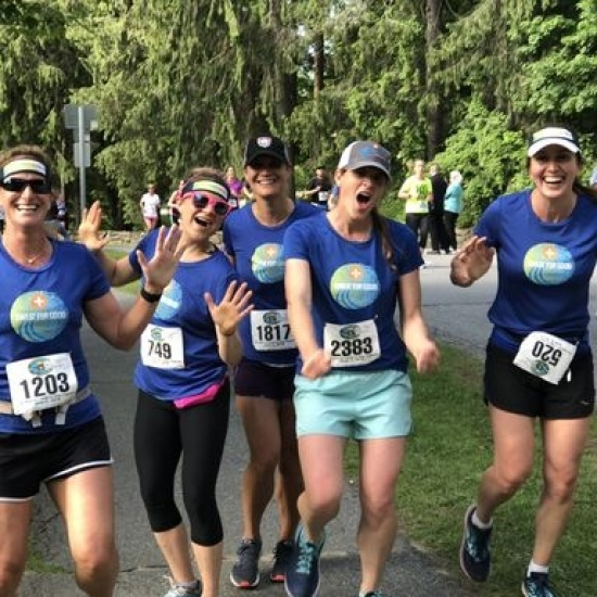 Team Positive Tracks at the 2019 Covered Bridges Half Marathon Photo