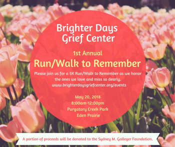 Brighter Days 1st Annual Run/Walk to Remember