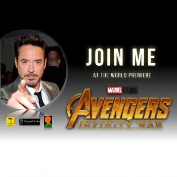 Join Robert Downey Jr. at the Avengers: Infinity War Premiere