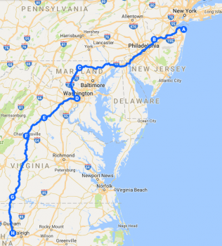 Credit Suisse – NYC-to-Raleigh Ride