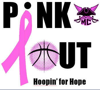 Hoopin' for Hope Pink Out Game