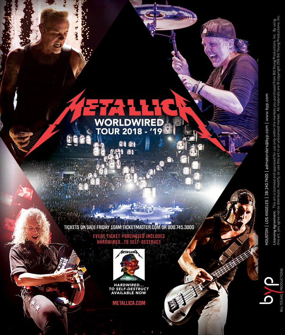 Want to win Tickets to meet Metallica at their show & have a